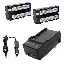 2pcs NP-F550 2100mAh Li-ion Battery + Charger for Sony NP-F570 F750 F950 set
