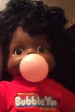 BUBBLE YUM Rare BLACK BABY~Work to BLOW BUBBLES~Collectible-Clean&Sanitized!!