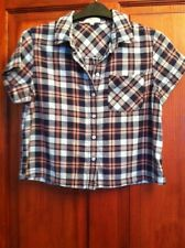 Womens Crop Check Shirt Size 8 (B35)