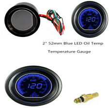 2inch(52mm) Oil Temp Gauge 12V Car Blue LED Light Car Instrument Digital Quality