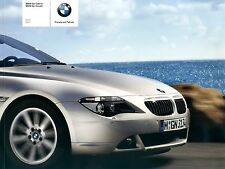 BMW 6er Cabrio + Coupè PROSPEKT 2005 brochure prospetto
