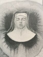 Antique Nun Mary? 1904 Original Print John C. Clay Banned Book RARE