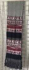 MISSONI wool large thick SCARF wrap shawl PASHMINA grey red white silver black