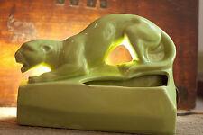 VINTAGE Lime Green Panther Cougar TV Lamp