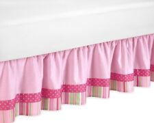Sweet Jojo Designs Jungle Friends Animals Girl Kids Queen Size Bedding Bed Skirt