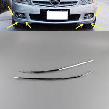 For Mercedes Benz 08-11 W204 C350 C300  Front Bumper Lower Chrome Trim Set L+R