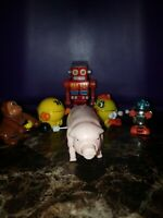 Vintage Wind Up Toy lot of 6, Robots, PAC MAN & PAC WOMAN