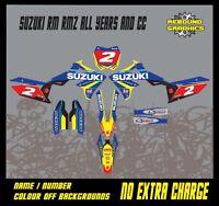 SUZUKI RMZ/RM 65 85 125 250 450 Graphics Kit Decals Sticker Kit MX  TACTORY