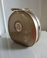 BNWT Stunning Vanity Case Shaped Quirky Unusual Medusa Ladies Gold Hand-Bag