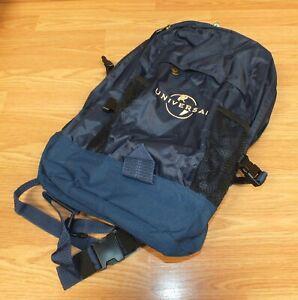 Genuine Universal Studios Navy Blue Travel Bag Backpack w/ Zipper Pouches