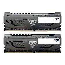 NEW! Patriot Viper Steel Series Ddr4 16Gb 2 X 8Gb 4000Mhz Kit W/Gunmetal Grey He