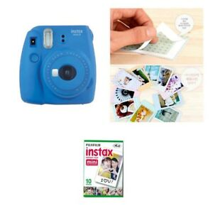 Fujifilm Instax Mini 9 Camera Cobalt Blue 1 Pack Fuji Film 10 Photo 8