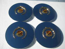 SET OF 4 NEW CADILLAC CHROME CENTER CAPS W. GOLD LOGOS ELDORADO DEVILLE SEVILLE