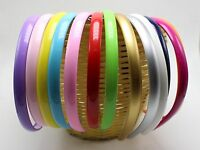 "10 Mixed Color Plastic Hair Band Headband 12mm(1/2"") Hair Accessories"