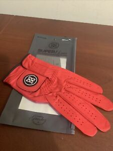 G4 G/fore Men's Super Luxe Scarlet Red Golf Glove Leather Men's Cadet XL NEW