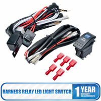 12V Wiring Harness Relay Kit Fuse On-OFF Switch For LED Spot Lights Switch
