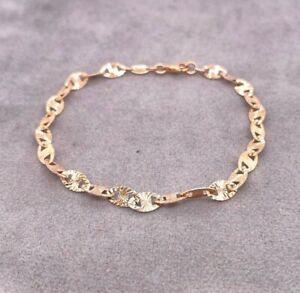 Ladies 10ct Rose Gold Bracelet Fancy Link Michael Hill 19cm 2.7g Preloved