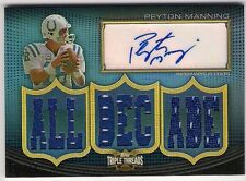 PEYTON MANNING 2010 THREADS AUTO 9 JERSEY RELIC SP 15/18 ~