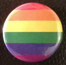 BUY 2 & GET 1 FREE - Gay Pride Rainbow Flag 25mm 1'' Pin Button Badge LGBT Equal