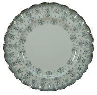 """SPODE china FLEUR DE LIS Y7515 Grey BREAD PLATE 6-1/2"""""""