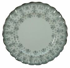 SPODE china FLEUR DE LYS Y7515 Grey BREAD PLATE 6-1/2""