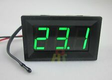 Green 12V Digital Thermometer With Temp Probe -50~110C Temperature Detector LED