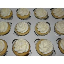 10 count 12-Cupcake Box WHITE, 14x10x4 Bakery Box with 12-Cupcake Inserts