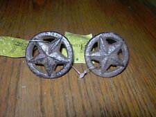 LOT-2 Western Cast Iron Texas Lone  Star Drawer Pull, Cabinet Door Knob Brown