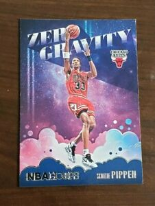 Scottie Pippen Chicago Bulls Zero Gravity Panini NBA Hoops 2020-21 Card #8