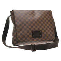 LOUIS VUITTON Damier Ebene Brooklyn MM Shoulder Bag N51211 LV Auth sa1755