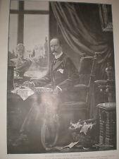 King George I of Greece 1905 H W Koekkoek old print