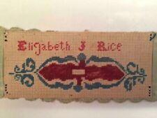 Antique Sampler 1800's Punch Paper Sampler Bookmark by Elizabeth J Rice aafa