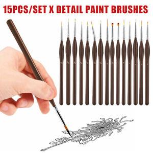 15pc Detail Pinsel Extra Fine Paint Painting kit Art Miniaturen Model Maker DE.