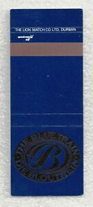 South Africa Matchbook Cover-The Blue Train-8874