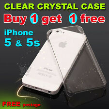 For New Apple iPhone SE / 5 / 5S hard Skin Case / Cover Crystal Clear