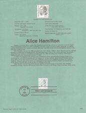 #9529 55c Alice Hamilton Stamp #2940 USPS Souvenir Page