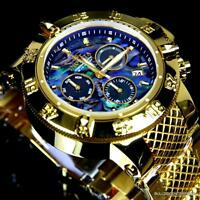 Invicta Subaqua Noma III Abalone High Polished Gold Plated Chronograph Watch New
