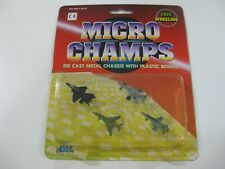 4-VINTAGE DIL MICRO CHAMPS AVIONES-COMPATIBLE CON MICROMACHINE Y TENTE-OLD STOCK
