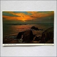Sunset Land's End Cornwall 1980s Postcard (P428)