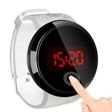 Womens Mens Kids LED Digital Waterproof Touch Screen Sports Casual Wrist Watches