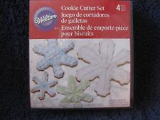 "NEW IN BOX SET OF 4 NESTING COOKIE CUTTERS SNOWFLAKES - WILTON - 5"" - 2.25"""