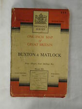 O.S Map Buxton & Matlock Sheet 111 1953