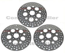 "Harley Brake Rotors 11.5"" Three Polished Stainless Steel ( 2 Front 1 Rear )"