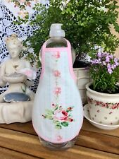 Shabby Pink Rose Dainty Chic Kitchen Bath Liquid Soap Bottle Apron - fits 32 oz