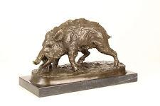 Bronze Skulptur Wildschwein Figur neu 99937644-dss