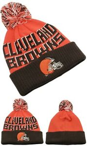 Cleveland Browns Youth Kids New NFL Cuffed Knit Beanie Orange Brown Era Hat Cap