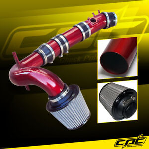 For 04-11 Mazda RX8 RX-8 1.3L Red Cold Air Intake + Stainless Air Filter
