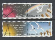 GIBRALTAR 1995 EUROPA  PEACE & FREEDOM set of 4 - MNH ...REDUCED !!!