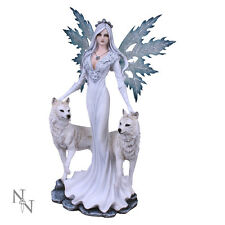 Nemesis Now Aura Companion Fairy White Wolves Figurine Ornament Statue 60.5cm