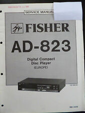 Original Service Manual Fisher Digital Compact Disc Player AD-823